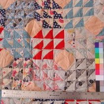 Image of Quilt deltails with ruler