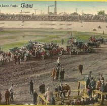Image of Motordrome at Luna Park - PastPerfect Museum Postcard Collection