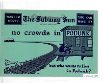 Image of Subway Sun: no crowds in PODUNK