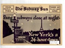 Image of Subway Sun: Paris subways close at night, New York's a 24-hour town!
