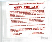 Image of Owners and Operators! Protect your Buildings! Obey the Law!