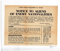 Image of Notice to Aliens of Enemy Nationalities