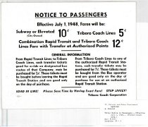 Image of Notice to Passengers - Effective July 1, 1948... (Triboro Coach Corp.)