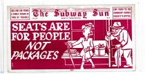 Image of Subway Sun: Seats are for People not Packages