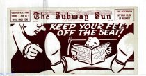 Image of Subway Sun: Keep Your Feet off the Seat!
