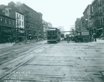 Image of 7th Avenue Line at 31st Street, June 28, 1916.