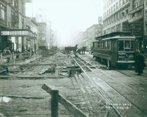 Image of 7th Avenue Line at 48th Street, September 26, 1918.