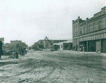 Image of Lenox Avenue Line at Lenox Avenue Car House, August 31, 1923.