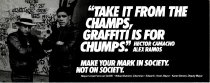 Image of Take it from the champs, graffiti is for chumps