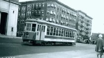 Image of 3rd Avenue Railway Car  #388 on Amsterdam Avenue, July 21, 1936.