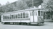 Image of 3rd Avenue Railway Car  #380 at Gun Hill Road, June 1948.