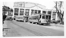 Image of New York & Queens County RR Car #33 in Flushing, May 2, 1937