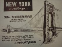 Image of Gustav Rehberger Collection, George Washington Bridge, 1948.