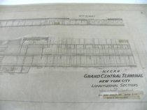 Image of Close Up View of Longitudinal Section Drawing of GCT, 1916