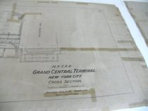 Image of Portion of Cross Section GCT Drawing, 1916