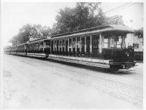 Image of Jamaica Central Railway Cars on New York Blvd, Cedar Manor Car House, 1926