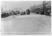 Image of Jamaica Central Railways Car #324 on 169th St., November 7, 1929