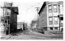 Image of Jamaica-Flushing Line Right of Way from 90th Ave., January 1, 1937