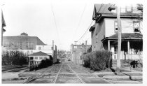Image of Jamaica-Flushing Line Right of Way at 88th Ave., January 1, 1937