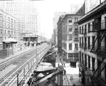 Image of Chambers Street and West Broadway, 6th Avenue Elevated Line, NY, NY