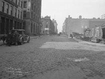 Image of Construction of subway on Laight Street, New York, NY