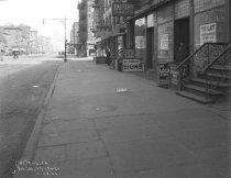 Image of 8th Avenue Sidewalk near 19th Street: IND Sixth Avenue Subway Line