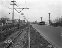 Image of Queens Boulevard Trolley Rail and Roadway: IND Queens Boulevard Line