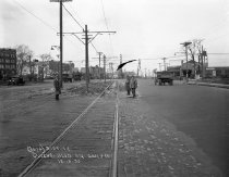 Image of Queens Boulevard at Quentin Street Trolley Rail and Roadway