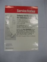 Image of Subway and Bus Guide to Colombus Celebration