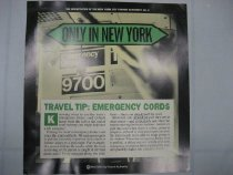 Image of Only in New York. Travel Tip: Emergency Cords