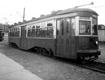 Image of Trolley Car #8405, Entrance Side