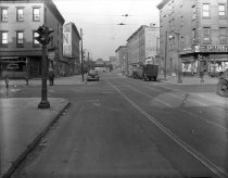 Image of Tompkins Avenue at Gates Avenue, Brooklyn, NY, December 02, 1945