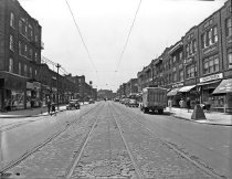 Image of Fifth Avenue between 82nd and 83rd streets, Brooklyn, NY, May 23, 1945