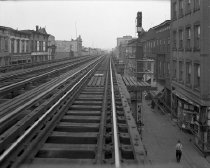 Image of Broadway elevated line, at Locust Street, Brooklyn, NY, July 01, 1941