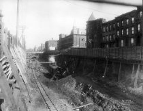 Image of BMT Fourth Avenue Line Construction at 23rd Street North, 1910