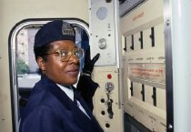 Image of Conductor using PA System, 1988