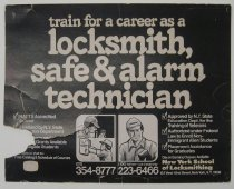Image of Advertisement for The New York School of Locksmithing