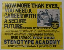 Image of Advertisement for the Stenoytpe Academy