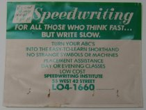 Image of Speedwriting