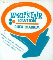 Image of Decal for LIRR World's Fair Station Shea Stadium, ca. 1964