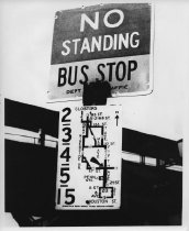 Image of 1964 World's Fair Bus Stop Sign