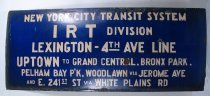 Image of N.Y.C.T.S. IRT Division sign