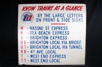 "Image of ""Know Trains at a Glance"" sign with TA logo"