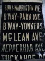 Image of Third Avenue Railway trolley roll sign, unrolled
