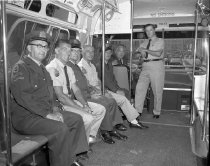 Image of Courtesy citations-bus drivers at Jay Street. August 19th, 1963