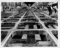 Image of Construction of the Culver line at 8th Street and 5th Avenue, 1930