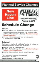 Image of Planned Service Changes