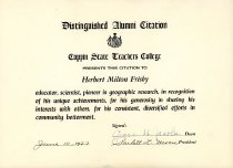 Image of Herbert Frisby Collection - Certificate, Commemorative