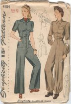 Image of Pattern - Simplicy Pattern: Misses' and Women's Slack Suit and Coverall, No. 4104