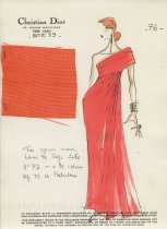 Image of Asymmetric version of same dress; FIDM Library Special Collections